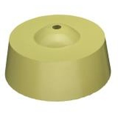 Round cap, incl. level point, diameter 115 mm, height 54 mm, pack 50 pcs